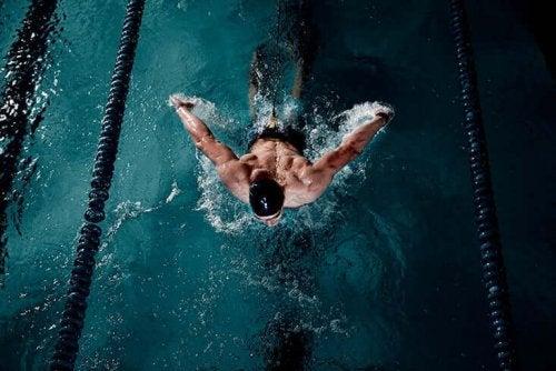 Man swimming.