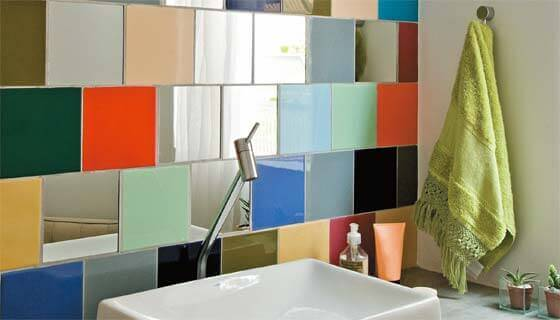 Colored tiles.