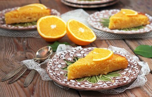 Five Minute Homemade Orange Cake