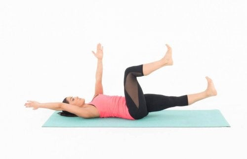 Dead bug to train your abs.