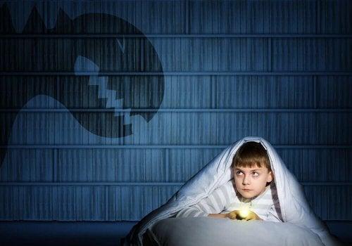 dreng der gemmer sig for monster under tæppe
