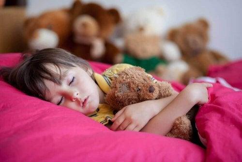 dreng der sover med bamse