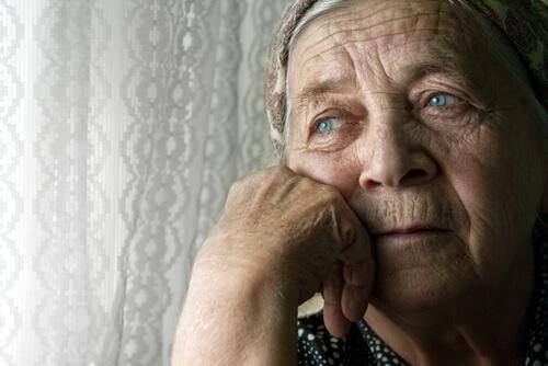 Woman with dementia.