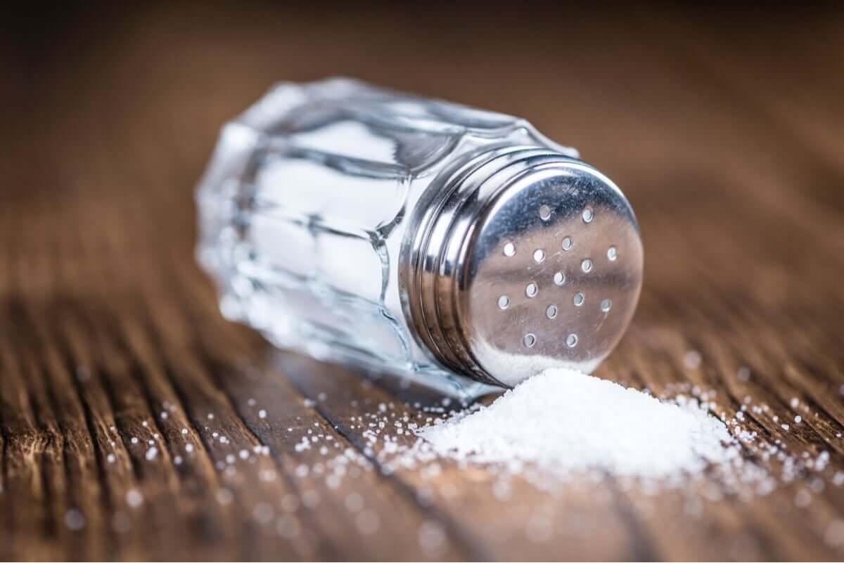 A spilled salt shaker.