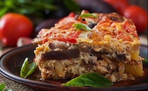 Yummy Greek moussaka.