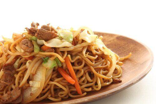 Shoyu ramen noodles.