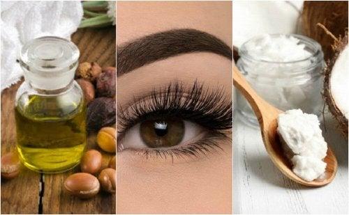 Oils to promote eyelash abundance.