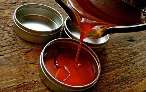 Cayenne pepper and wax ointment.