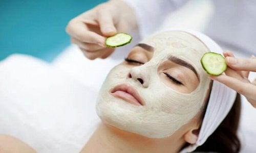 Cucumber beauty treatment.
