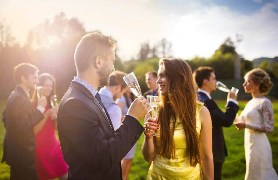 To save money on your wedding, you can reduce your number of guests.