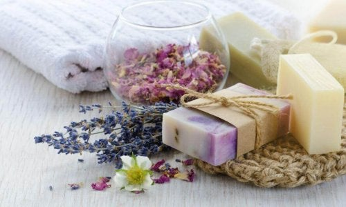 Glycerin soaps with lavender.