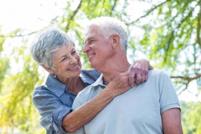 A happy elderly couple.