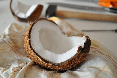 An open coconut.