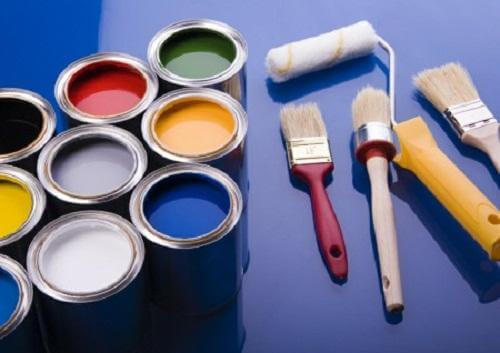 Some painting materials.