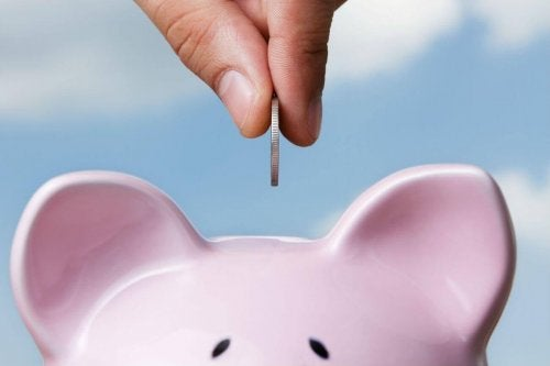 A person saving money.