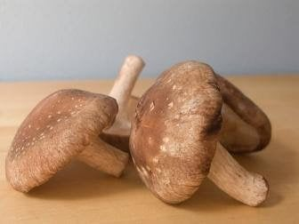 Shiitake mushrooms.
