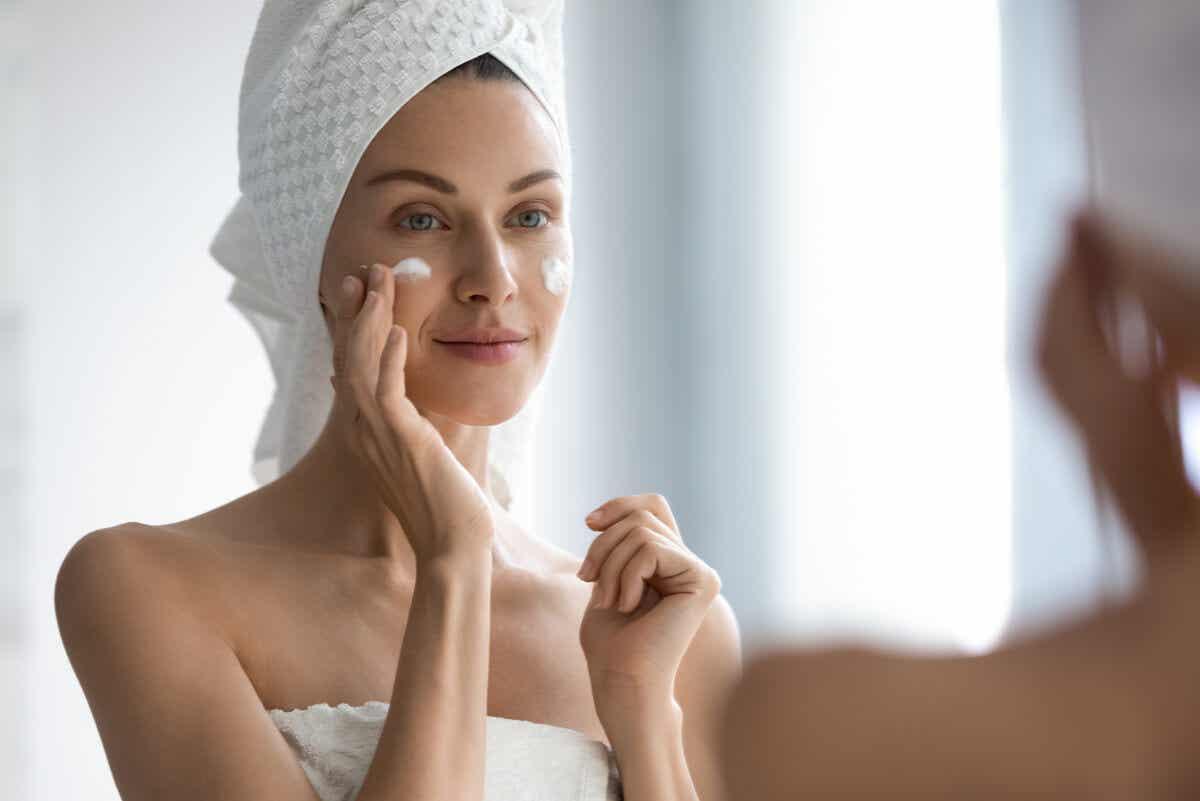 Good skin routine.