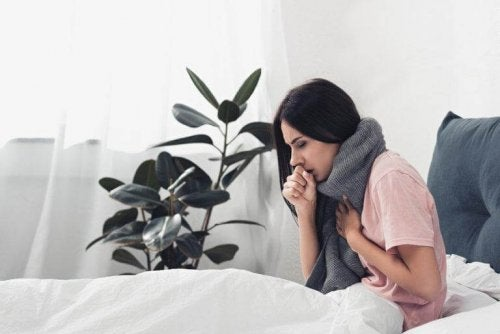 A woman with the flu.