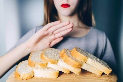 A woman who decided to cut out gluten products from her diet.