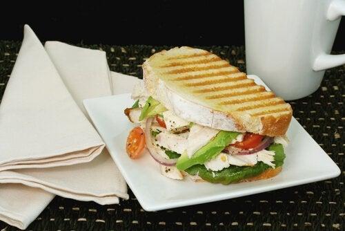A grilled veggie sandwich.