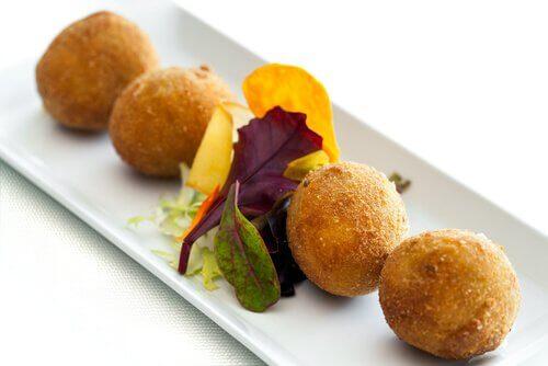 Fried corn balls.