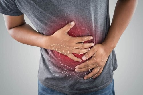 Man with intestine issue due to diarrhea