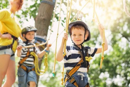 Kids learn to adapt to all types of whether when they play outdoors.