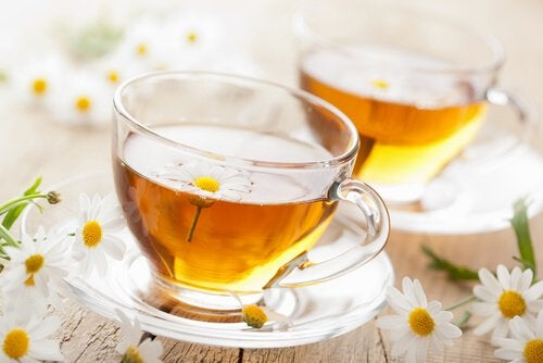 Chamomile tea to soothe menstrual cramps.