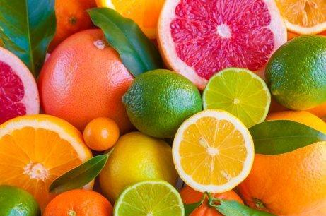 Different citrus fruits.