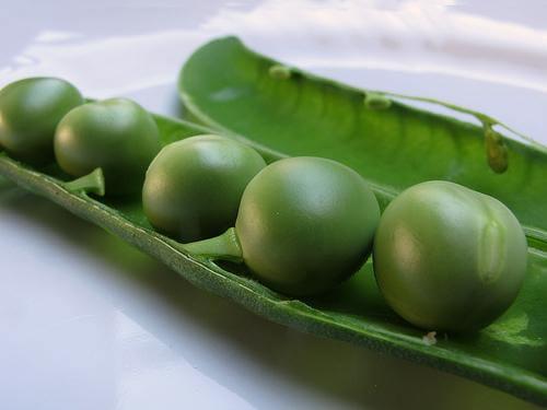 A few peas.