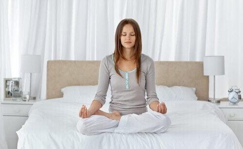 A meditating poser.