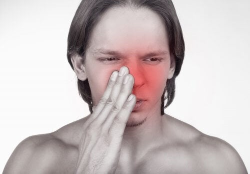 Man with nasal congestion