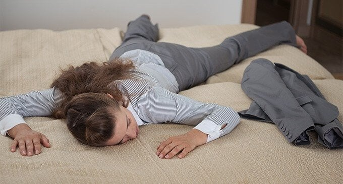 People with a weak immune system usually feel fatigued.
