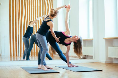 These women are doing yoga. It won't affect your joints.