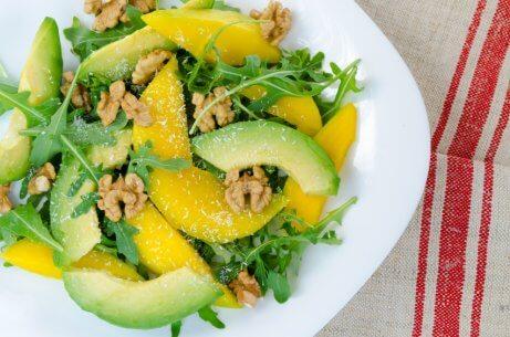 Mango and basil salad.