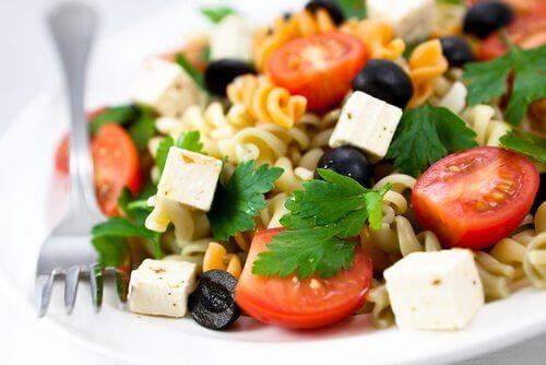 Vegetarian pasta salad.