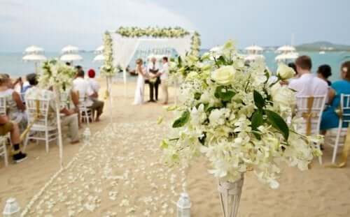 A wedding by the sea.