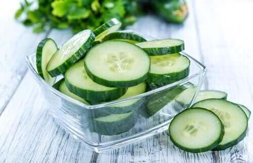 Cucumber slices.