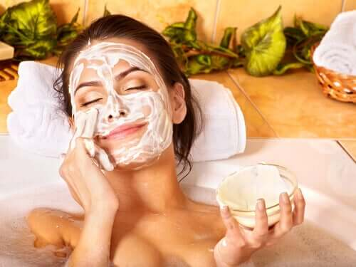 Exfoliation will help keep your skin looking young at 40 because it gets rid of dead cells.