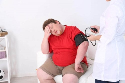 Obese patient causes of heat exhaustion