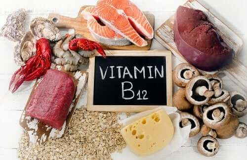 Sources of vitamin B12.