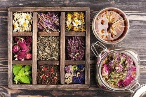 A box of herbs.