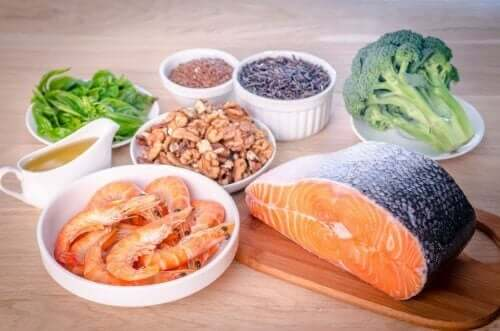 Sources of Omega-3 fatty acids.