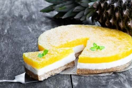 No-Bake Piña Colada Cheesecake