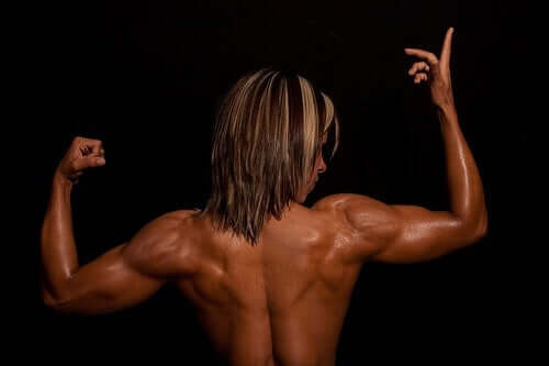 A muscular person seen from behind.