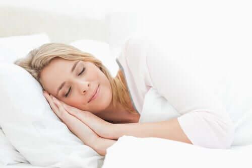 A sleeping woman.