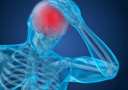 A person with a headache.