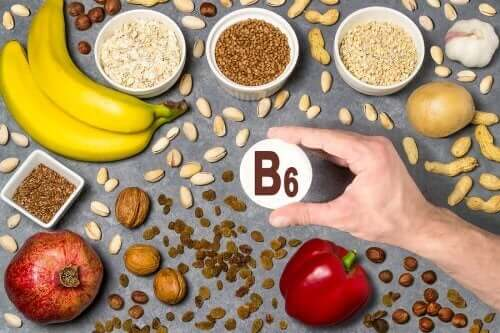 Sources of vitamin B6.
