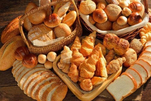 An array of breads.
