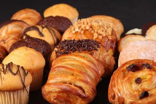 An array of pastries.